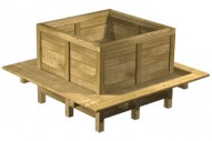 Jardinera 5031 - Jardineras - Mobiliario Rústico - Pavimentos - Productos - Mader Play