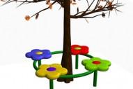 Asiento Circular 4 Flores - Complementos de Área- Juegos Infantiles - Productos - Mader Play