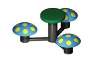 Mesita 3 Asientos Seta - Complementos de Área- Juegos Infantiles - Productos - Mader Play