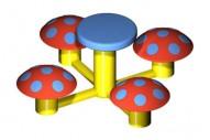Mesita 4 Asientos Seta - Complementos de Área- Juegos Infantiles - Productos - Mader Play