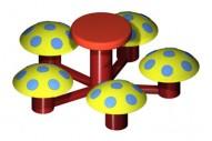 Mesita 5 Asientos Seta - Complementos de Área- Juegos Infantiles - Productos - Mader Play