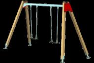 Columpio 2 asientos planos - Línea Basic- Juegos Infantiles - Productos - Maderplay