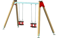 Columpio 2 asientos de seguridad - Línea Basic - Juegos Infantiles - Productos - Maderplay