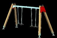 Columpio 2 asientos planos - Línea basic - Juegos Infantiles - Productos - Maderplay