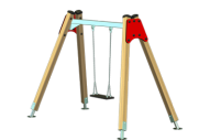 Columpio 1 asiento plano - Línea Basic - Juegos Infantiles - Productos - Maderplay