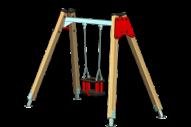 Columpio 1 asiento de seguridad - Línea Basic - Juegos Infantiles - Productos - Maderplay